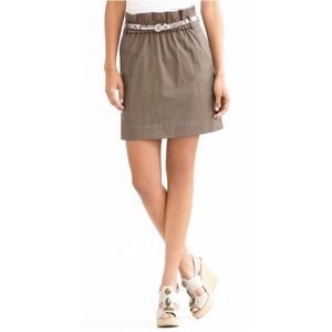 Banana Republic Paperbag Olive Green Mini Skirt